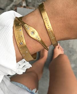 STARS  Armreif Gold