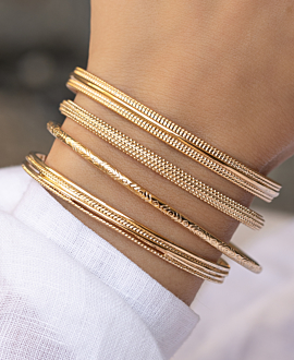 MILA  Armreif Gold