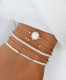 BEADS Armband Weiß