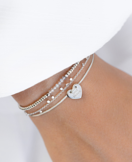 BEST FRIENDS  Armband Silber