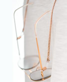 CURB CHAIN Brillenkette Rosé