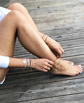 BEADS  ANKLE BAND BEIGE