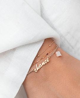 BONNE CHANCE  Armband Rosé