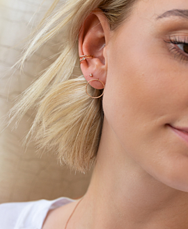 EAR CUFF SINGLE  14K ROSE GOLD