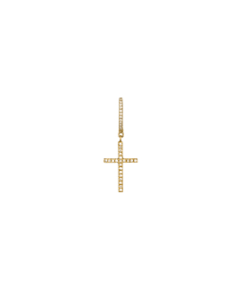 DIAMOND Creole|Single 14K Gold