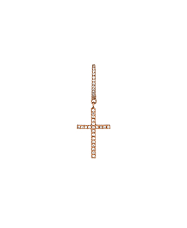 DIAMOND Creole  Single 14K Roségold