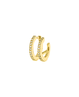 TOPAZ BAR HOOP  SINGLE GOLD