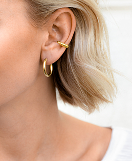 MARLA HOOPS  GOLD 19MM