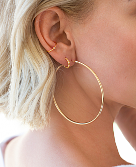 MARLA HOOPS GOLD 60MM