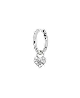 TOPAZ HEART Creole  Single Silber