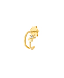 STAR EAR STUD SINGLE GOLD