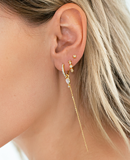 GEMMY CHAIN HOOPS GOLD