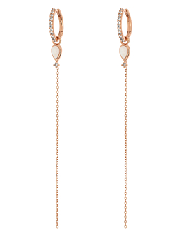 GEMMY CHAIN HOOPS ROSE