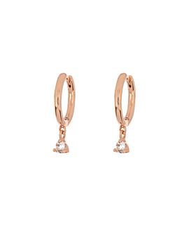 TOPAZ  HOOPS ROSE