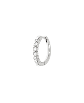TOPAZ HOOP  SINGLE SILVER 9MM