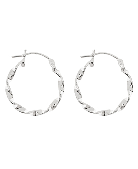 TWISTED  HOOPS SILVER 18MM