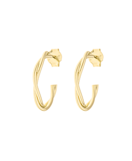 TWINE  HOOPS GOLD