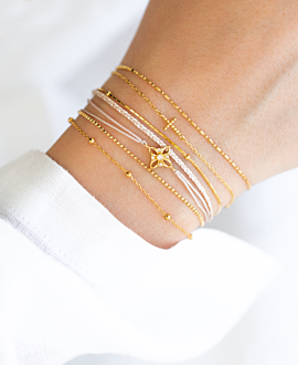 SNOW FLOWER  Armband Gold