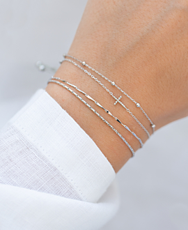 CROSS  Armband Silber