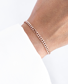 CURB CHAIN Armband Rosé