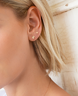 DAISY  EAR STUDS ROSE