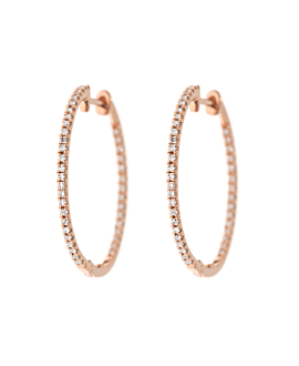 DIAMOND CREOLEN  14K ROSE GOLD