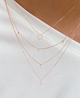 DIAMOND Halskette  14K Roségold