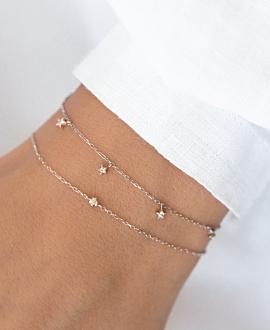 DIAMOND Armkette  10K Weißgold