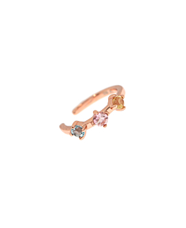 PASTEL EAR CUFF  SINGLE ROSE