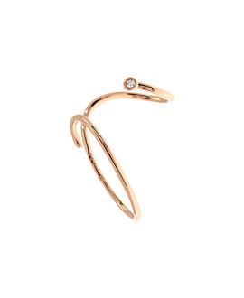 EAR CUFF SINGLE 10K ROSE GOLD