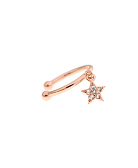 STAR Ear Cuff  Single Rosé
