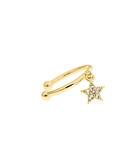 STAR Ear Cuff  Single Gold