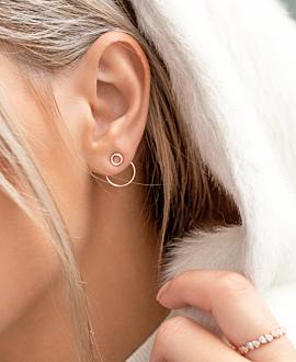 CIRCLE Ear Jackets Rosé