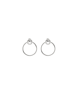 CIRCLE|Ear Jackets Silber