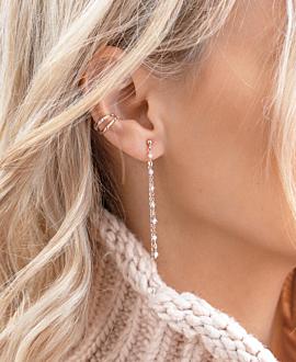 MOONSTONE EAR JACKETS ROSE