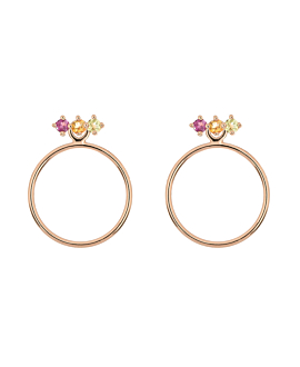 PASTEL CIRCLE Ear Jackets Rosé