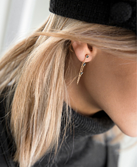 CHAIN EAR JACKET  14K ROSE GOLD