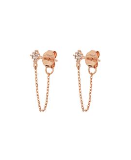 TOPAZ GLIMMER Ear Jackets Rosé