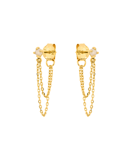 MOONSTONE  Ear Jackets Gold