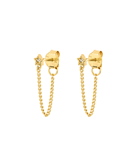 SPARKLING STAR Ear Jackets Gold