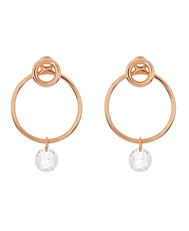 FLYING MOONSTONE Ear Jackets Circle