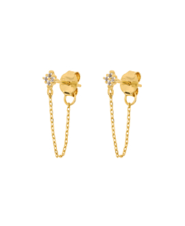 TOPAZ GLIMMER  Ear Jackets Gold