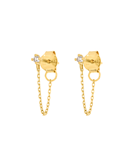 TOPAZ Ear Jackets Gold