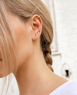 DIAMOND Ear Climber  Single 14K Weißgold