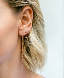 Ear Cuff Single Rose