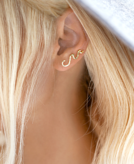 Ear Climber Single Gold