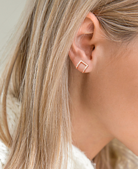 DIAMOND Ear Cuff Single 14K Roségold