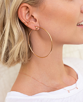 TOPAZ Ear Cuff  Single Rosé
