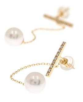 PEARL Ear Jackets 10K Gold