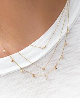 FINE PEARL Halskette  10K Gold